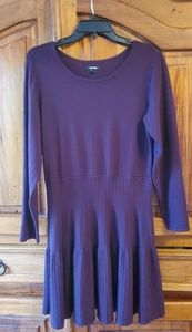 Apt 9 Purple Sweater Dress, Tiered SZ L
